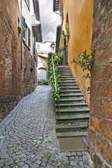 Fototapeta Mała ulica w Orvieto, Włochy, Toscana
