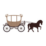 Horse Carriage Behicle Wall Sticker