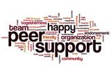 Peer support word cloud