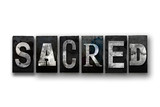 Sacred Concept Isolated Letterpress Type