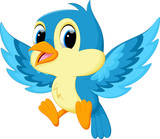 Cute blue bird cartoon - 119506410