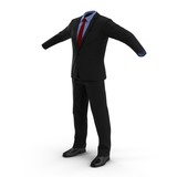 Men suit isolated on white 3D Illustration