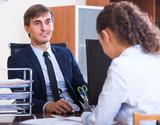 employee having job interview