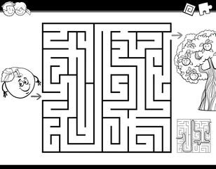 maze task coloring book