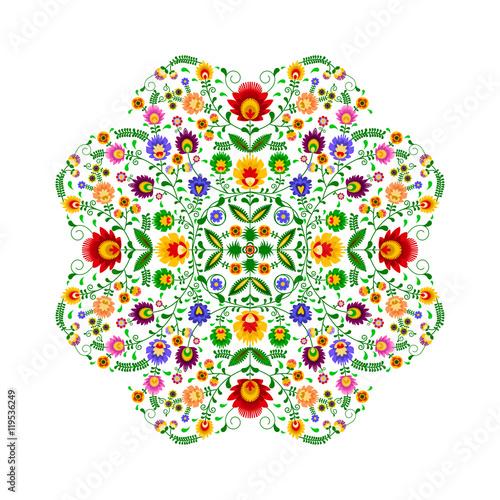 Fototapeta Polski folklor - wzór w kształcie kwiatka