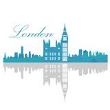 Isolated London skyline