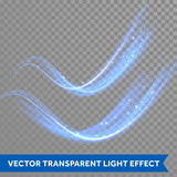 Vector magic glowing spark swirl trail - 119542667