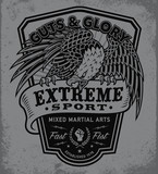 Extreme sport eagle crest shield t-shirt graphic