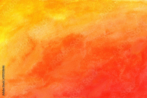 Orange background in watercolor grunge