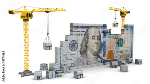 cranes building money