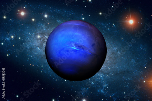 Solar System - Neptune. It is the eighth and farthest planet from the Sun.