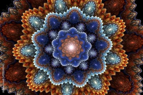 Plakat fractal picturesque carpet