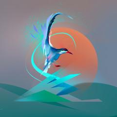 Bird seagull tern
