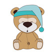 bear teddy hat design vector illustration eps 10