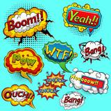 Comic speech bubbles. Vector illustration