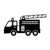 fire truck equipement service emergency vector illustration eps 10