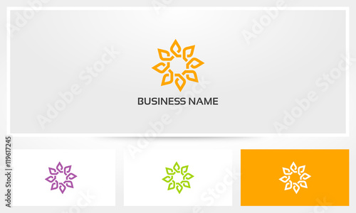 Sun Mandala Lotus Lily Logo