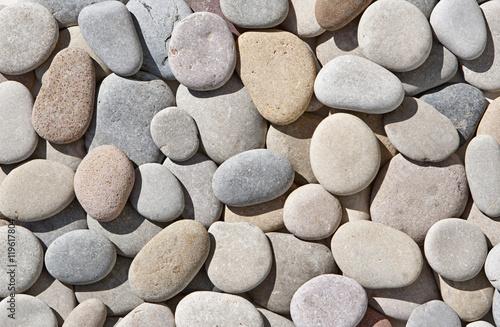 background of round stones