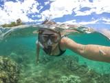 Woman Snorkeling - 119648268