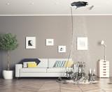 broken ceiling in the room - 119661063