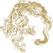 Japanese traditional dragon illustration
