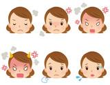 女性 表情 顔 セット