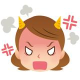 女性 表情 顔 激怒