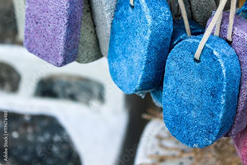 Pomice stones on sale, Paros, Cyclades, Greece