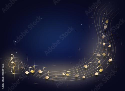 Fotobehang Muziek Night music background