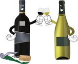 vino bianco e nero brindano