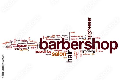 Barbershop word cloud