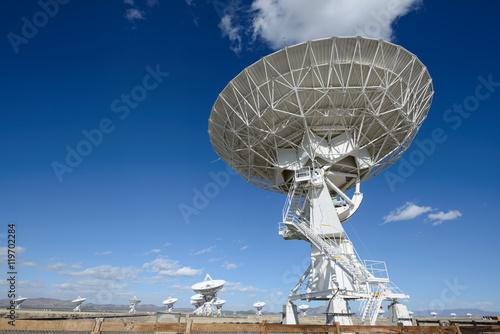 Plexiglas Huge antenna dish at Very Large Array