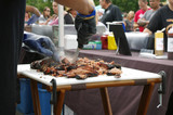 Fototapety Beef being sliced up for BBQ