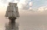 Ilustracja 3D Żaglowe Na Morzu