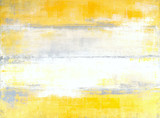 Grey and Yellow Abstract Art Painting - 119711837