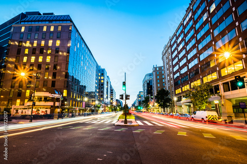 Long Exposure of Connecticut Avenue in Downtown Washington, Dist