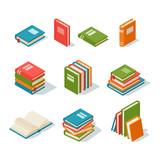 Fototapety Isometric book icon vector illustration.