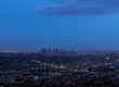 Los Angeles panoramic view at sunset time