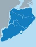 Map of Staten island - 119743882