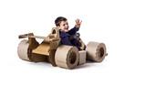 Cardboard racing car