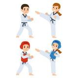 Taekwondo cartoon kids
