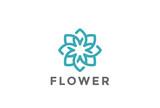 Fototapety Flower Logo design infinite vector Jewelry Fashion Luxury icon