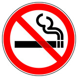 srr71 SignRoundRed - German - Verbotszeichen: Rauchen verboten  - english - prohibition sign: smoking ban - g4699 - 119780212