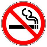 srr71 SignRoundRed - German - Verbotszeichen: Rauchen verboten  - english - prohibition sign: smoking ban - g4699 - 119780212