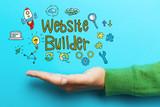 Website Builder concept with hand