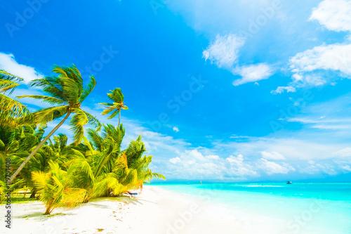 Leinwand Poster Maldives island