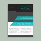 abstract company brand brochure template design