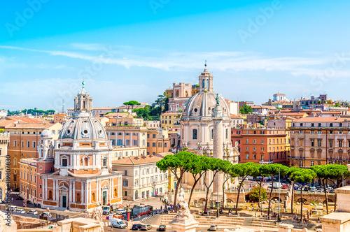 Deurstickers Rome Ewige Stadt Rom, Italien, Panorama