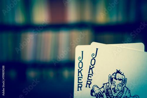 Poster Gambling image, Joker playing card