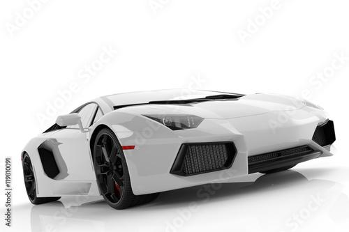 bialy-sportowy-samochod,-biale-tlo